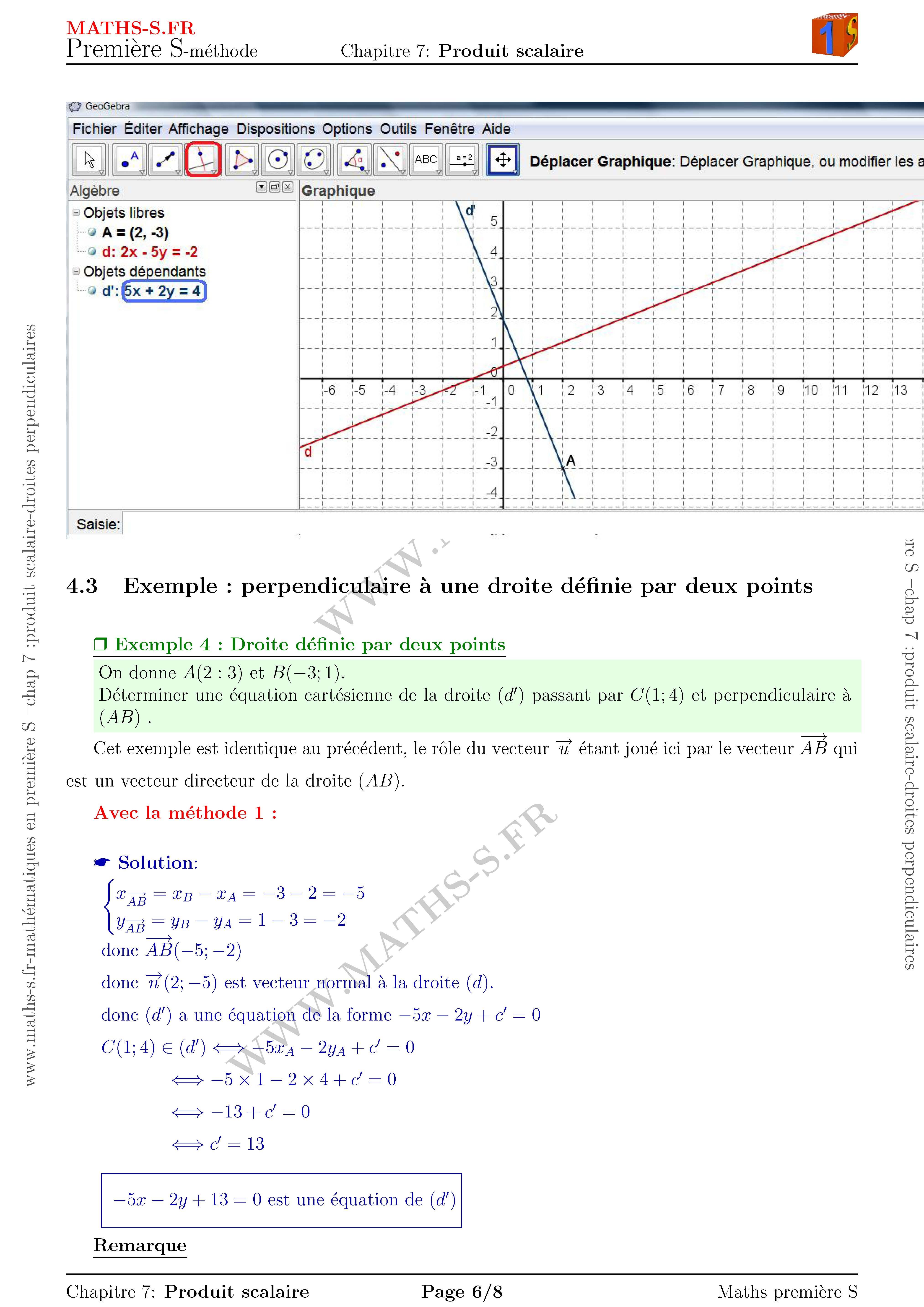 Fiche méthode cours de soutien math premiere scientifique