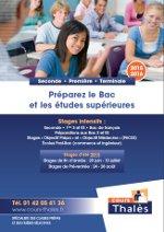 plaquette Stages Lycée Cours Thalès 2015