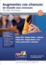 Plaquette stages prépa HEC 2015-2016 Cours Thalès