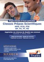 Plaquette Stages prépas scientiques 2015-2016 Cours Thalès
