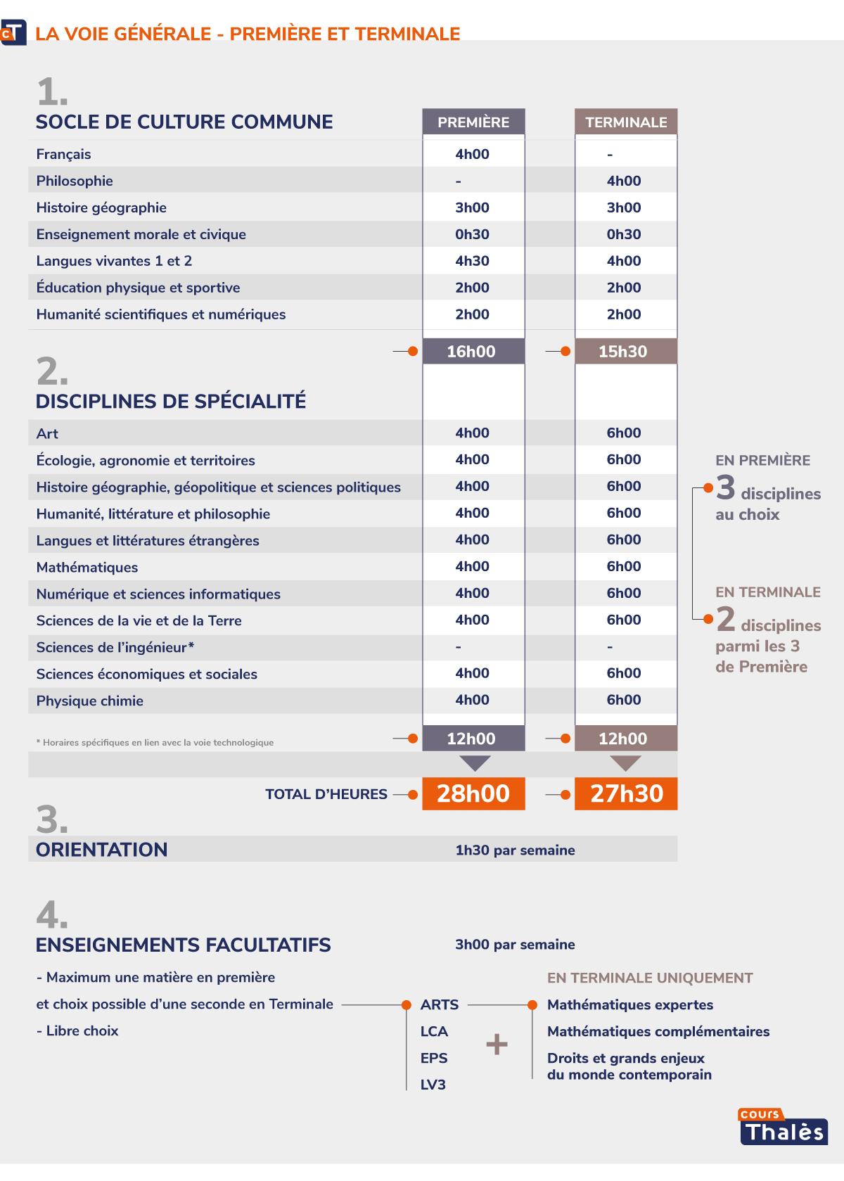 Infographie Choix des Spécialités