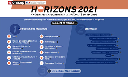 Horizons 2021 : Une application pour aider les élèves à choisir leurs spécialités