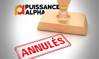 Annulation des écrits du concours Puissance Alpha en 2021